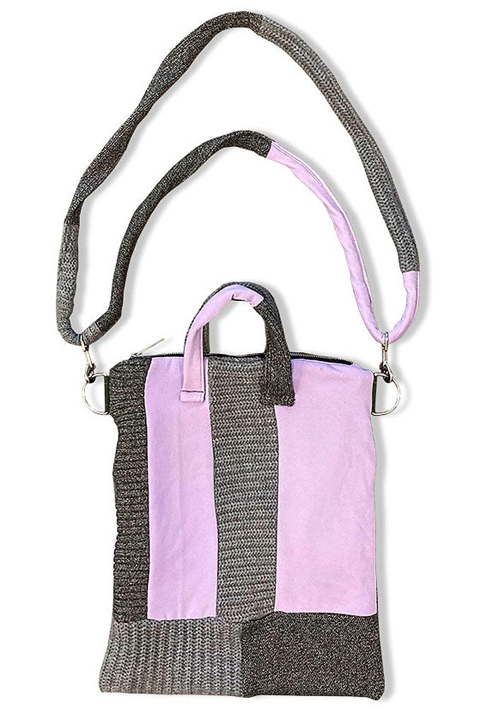 ELAN VITAL PURPLE KNIT TOTE