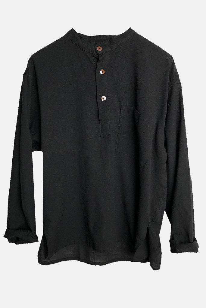 Kurta Shirt, Black