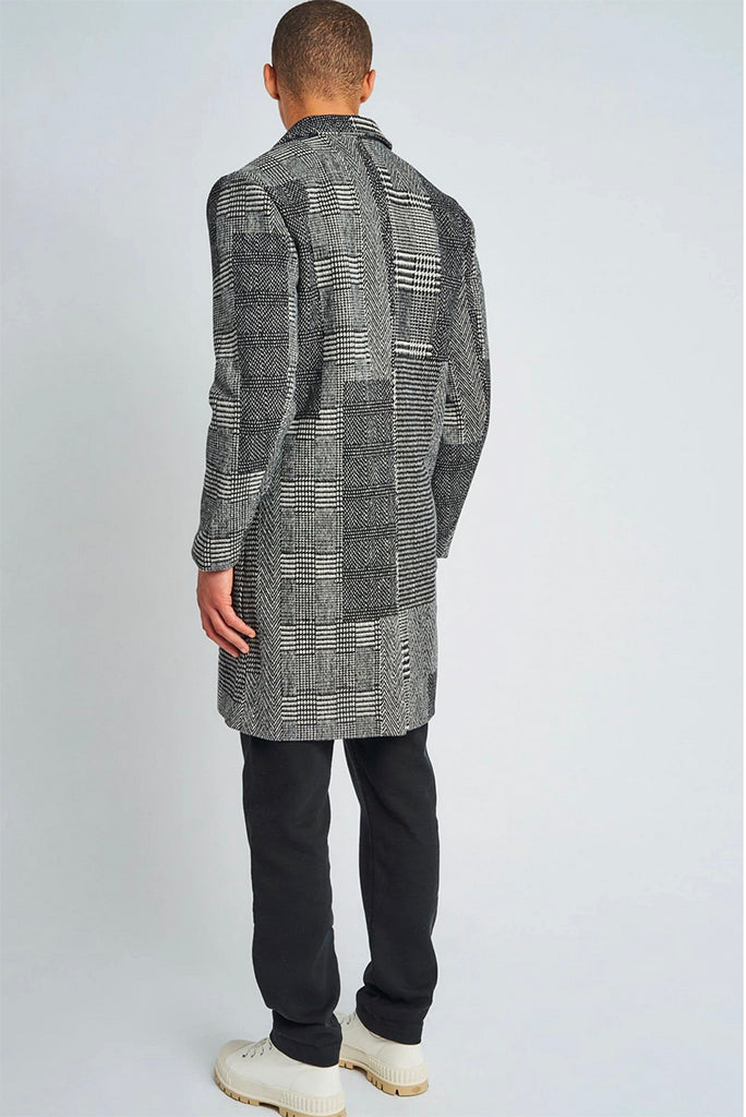 NATIVE YOUTH STANLEY WOOL OVERCOAT