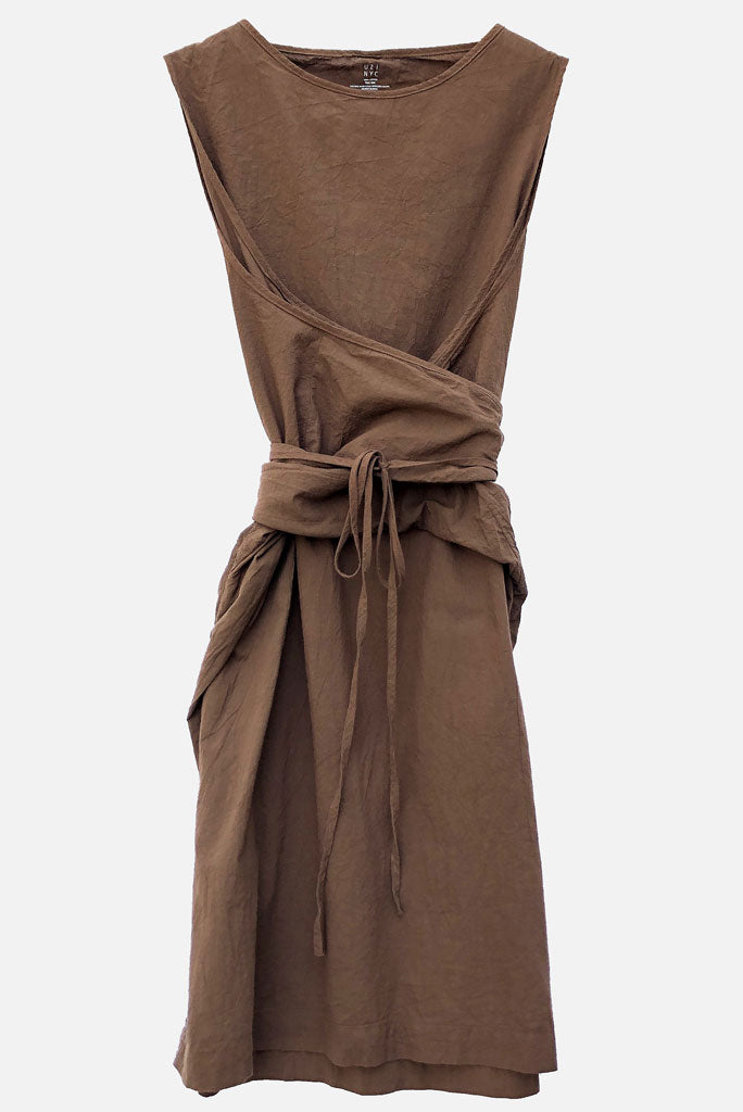 UZI Oxford Dress, Brown