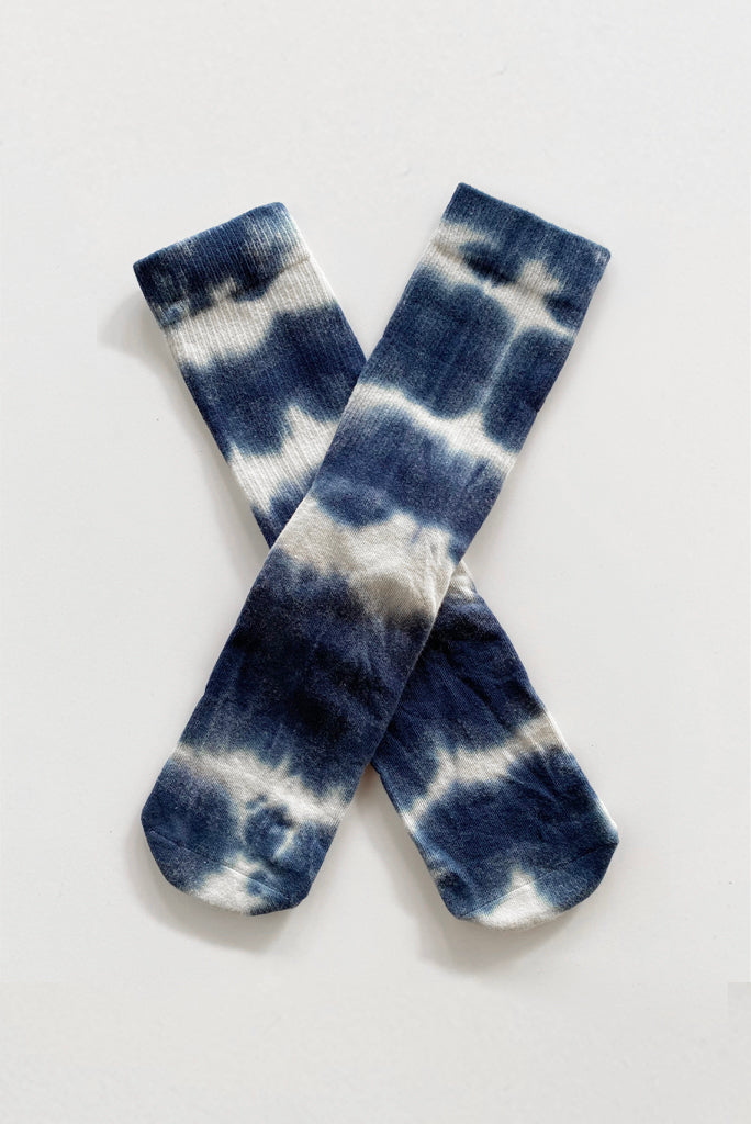 TU MENS TRIPPY SOCK, SHIBORI