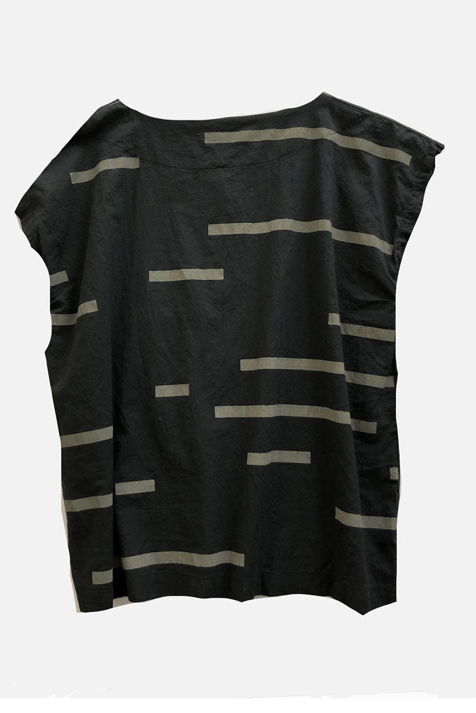 UZI TUNIC TOP,  BROKEN LINE
