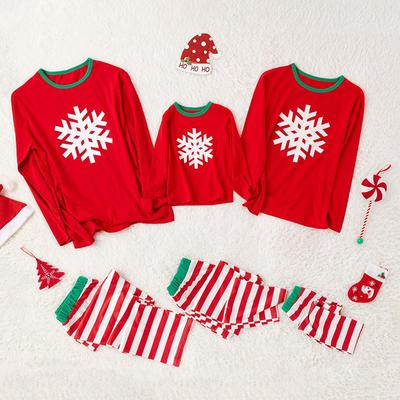 Red Snowflake Family Christmas Pajamas
