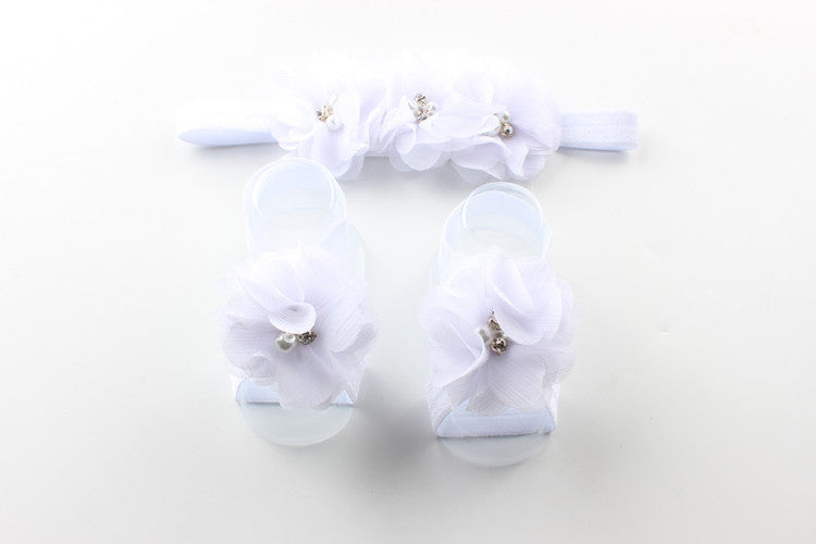 Baby Hairband + foot flower
