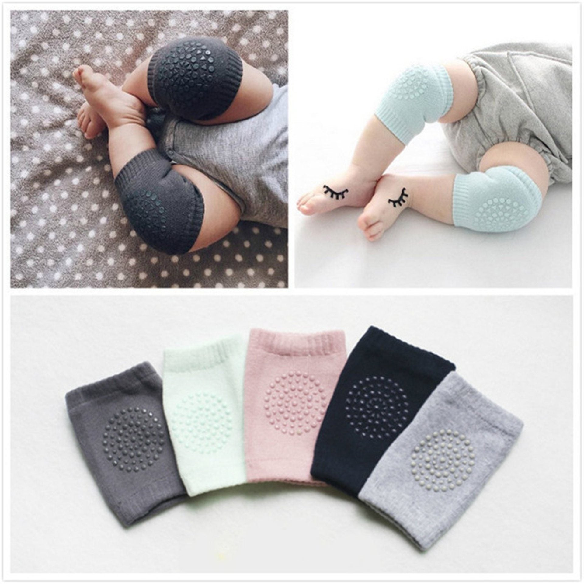 Knee protector is present for the baby