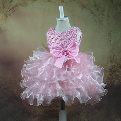 Girl Bow Tie Bead Dress