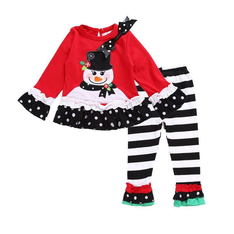 Girl Long sleeves Christmas Set