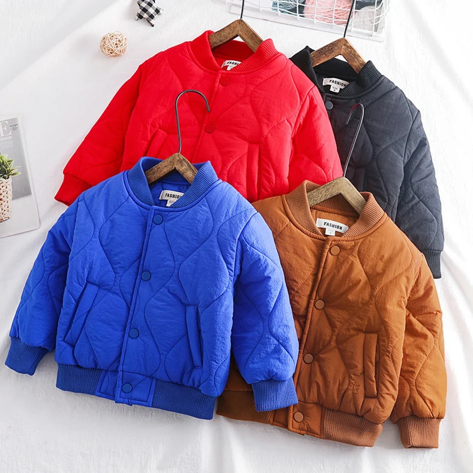 Baby / Toddler Trendy Solid Thick Jacket