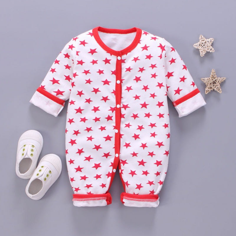 Baby Boy / Girl Stars Allover Long-sleeve Jumpsuit