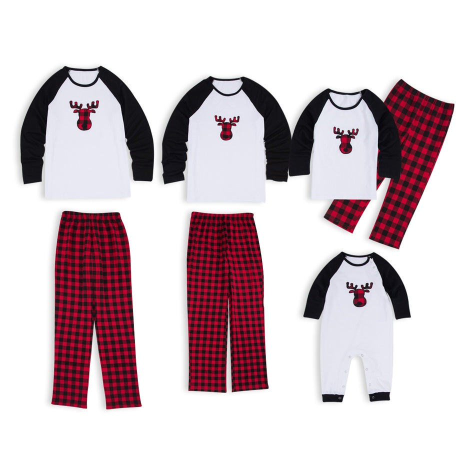 Christmas Deer Plaid Family Matching Pajamas