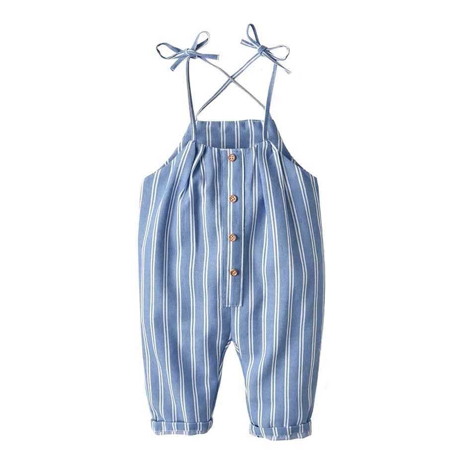 Baby&Toddler Overalls  Striped Strappy Overalls Onesies