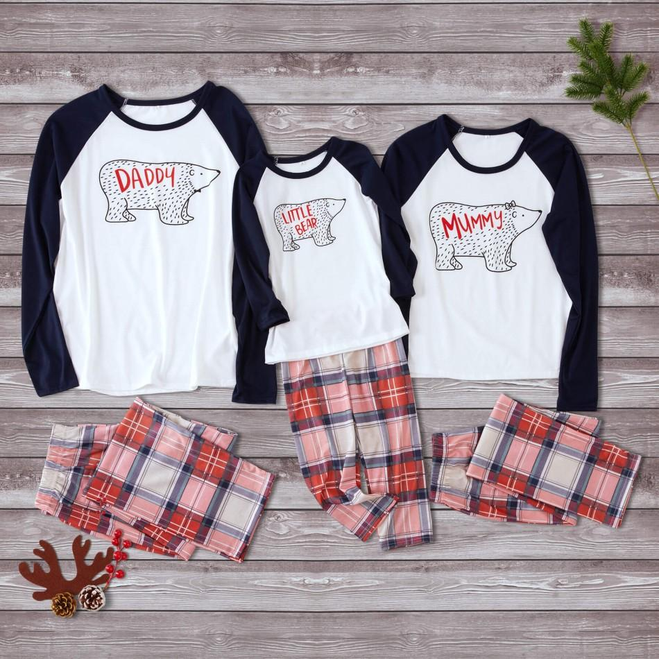 Bear Christmas Family Matching Pajamas Set