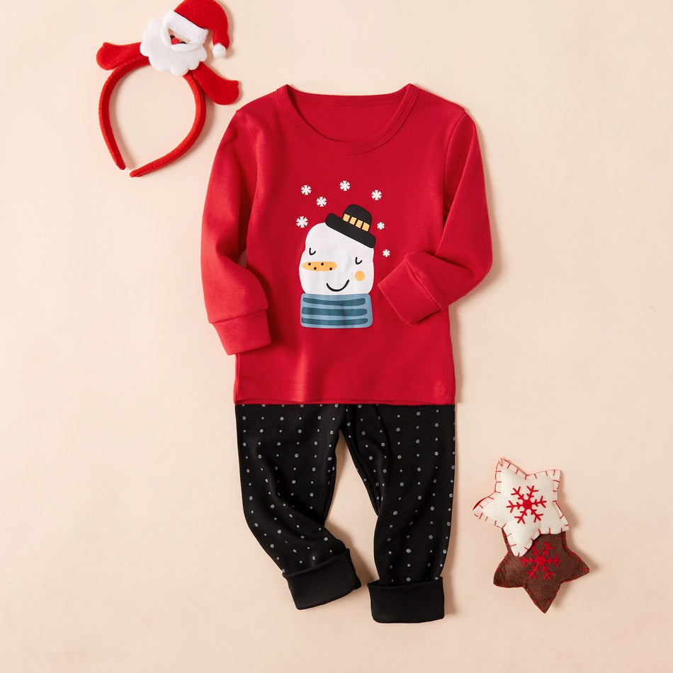 2-piece Baby Boy / Girl Adorable Snowman Trendy and Polka Dots Pants Underwear Set