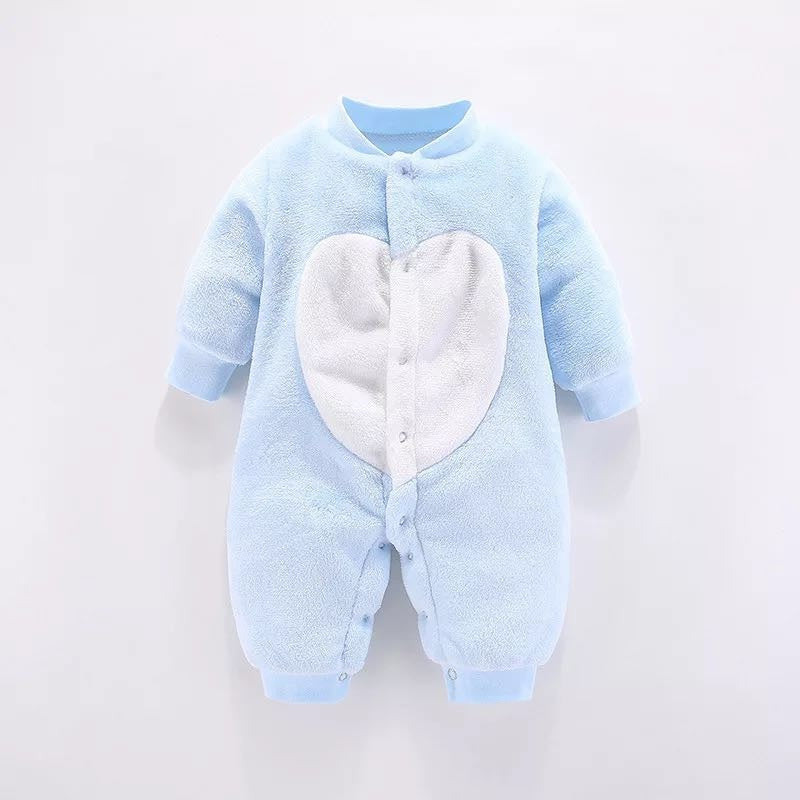 Baby Boy / Girl Solid Style Heart Long-sleeve Jumpsuit