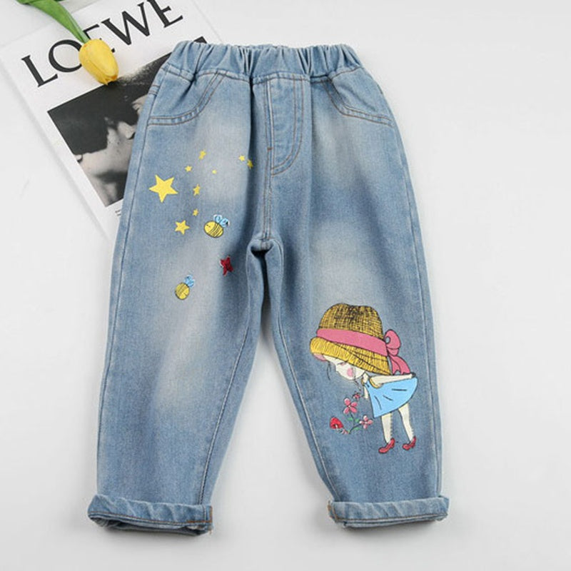 Baby / Toddler Little Girl Print Jeans