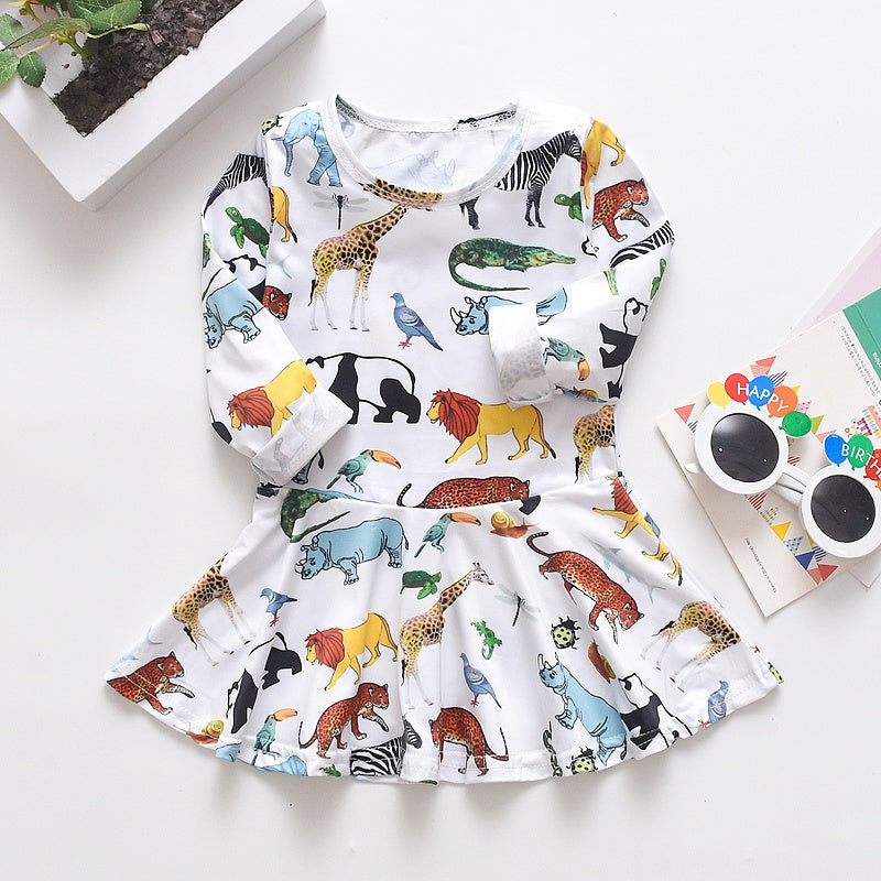 Baby / Toddler Cartoon Animal Allover Dress