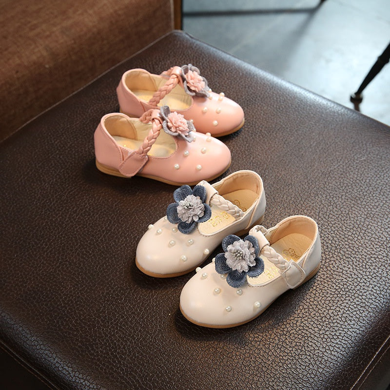 Baby / Toddler Girl's Flower and Pearl Decor Sweet Shoes       3/12/19/3
