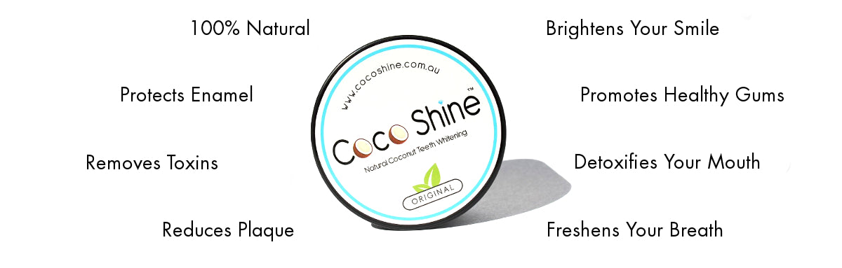 Coco Shine activated charcoal natural teeth whitening