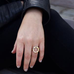 large-14kgold-hexagon-different-color-sapphire-ring-on-model