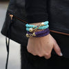 two-beaded-bracelets-with-14kgold-and-sapphire-clasp-on-model