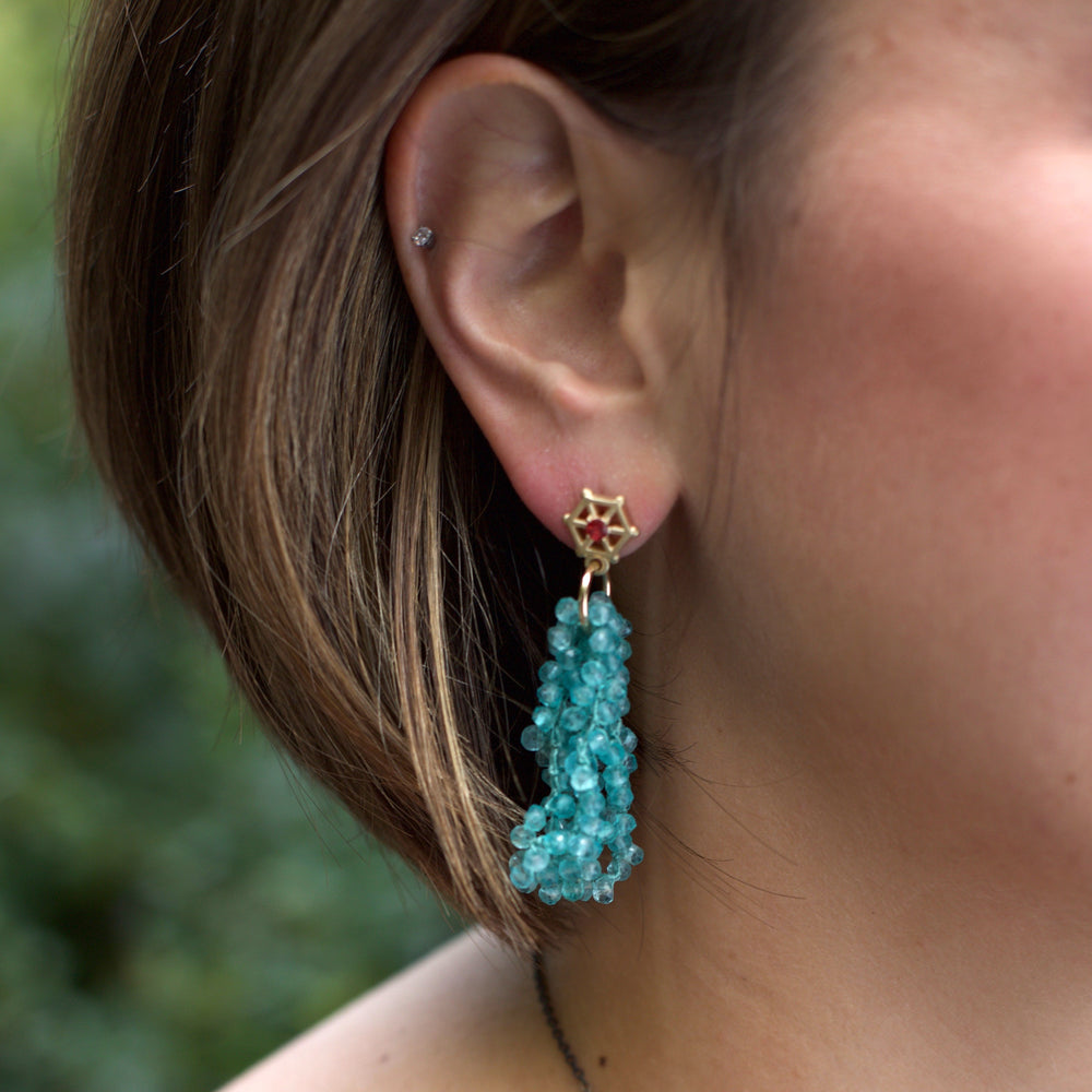 apatite-beaded-earrings-with-small-14kgold-and-red-sapphire-post