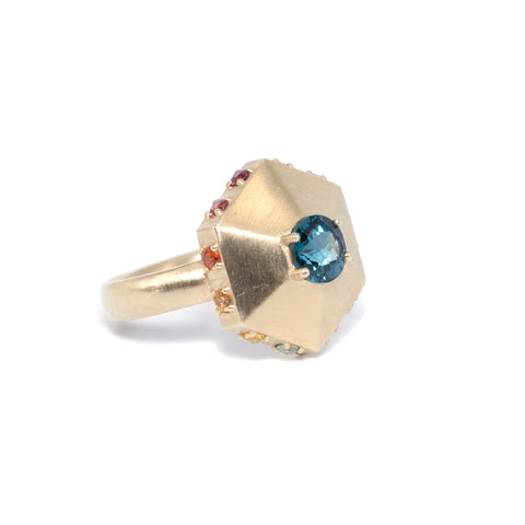 Century Ring: London Blue Topaz