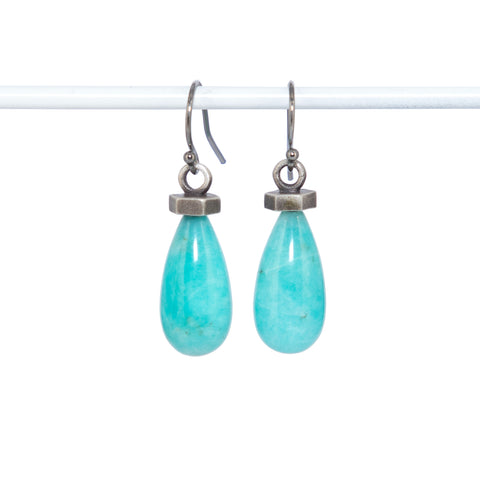 amazonite-silver-flat-hexagon-earrings