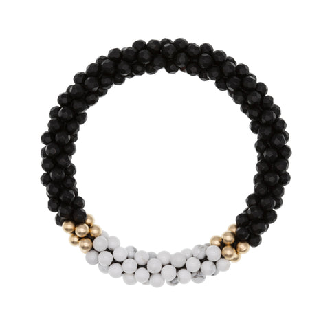 black-onyx-howlite-beaded-gemstone-bracelet
