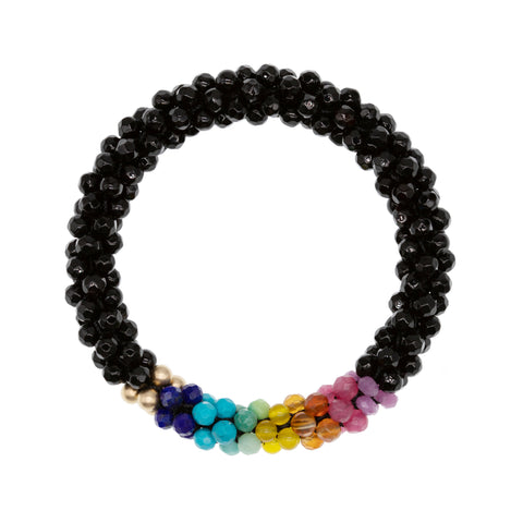 black-onyx-rainbow-beaded-gemstone-bracelet