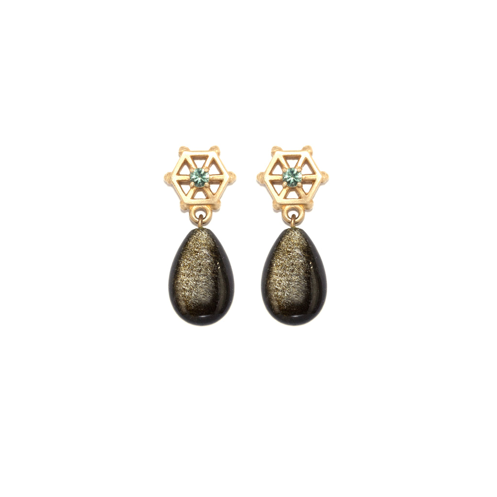 gold-obsidian-drop-earrings-with-small-14kgold-and-blue-tourmaline-post