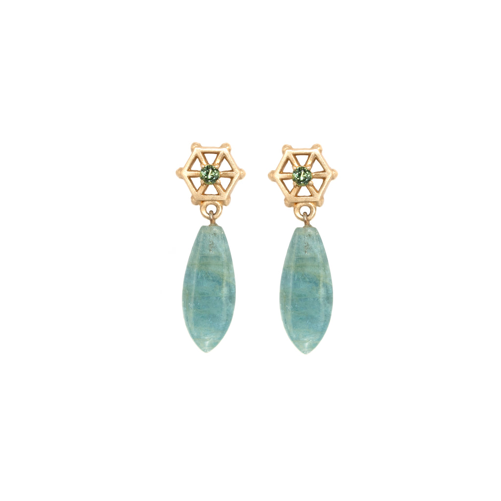 aquamarine-drop-earrings-with-small-14kgold-and-green-sapphire-post