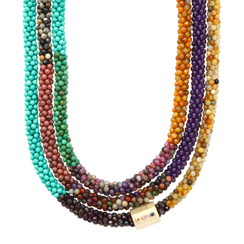 turquoise-pink-purple-gemstone-beaded-necklace-with-14kgold-sapphire-accent-bead