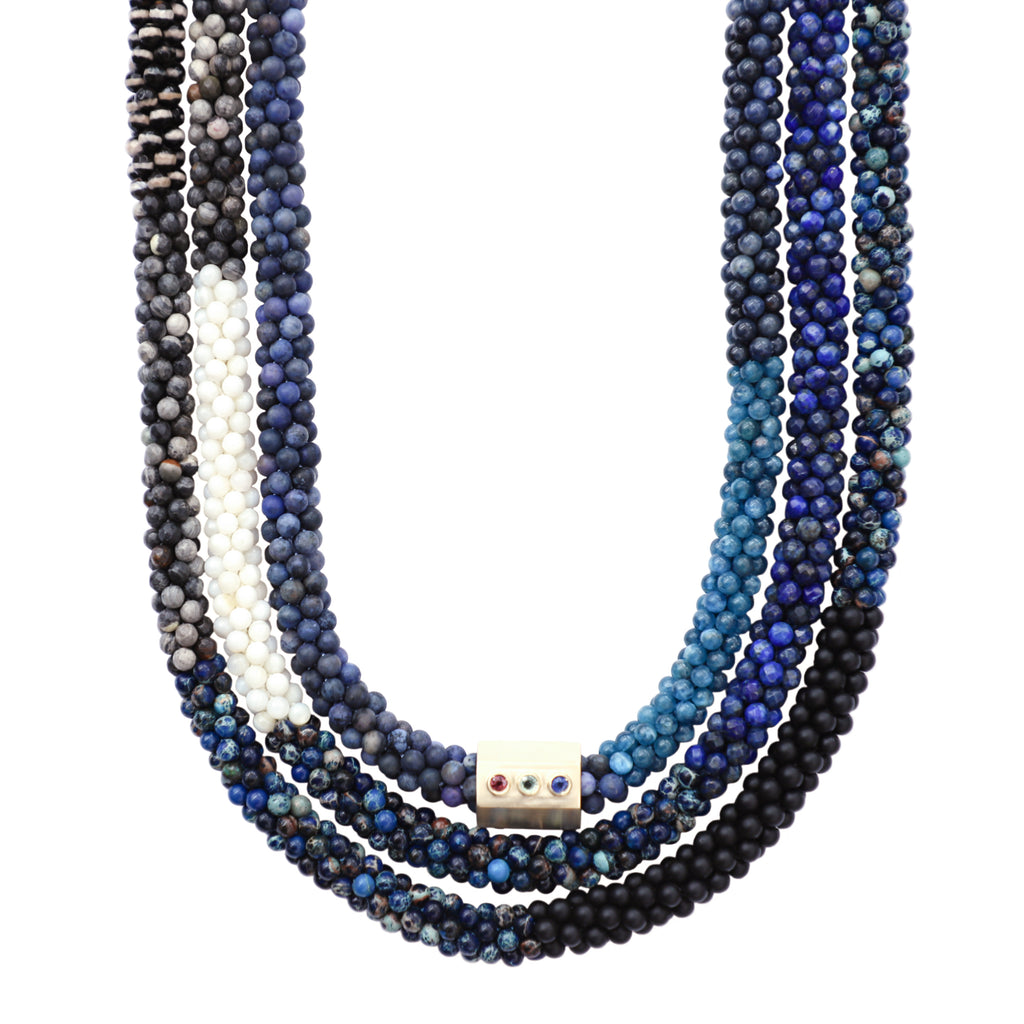 blue-black-white-gemstone-beaded-necklace-with-14kgold-sapphire-accent-bead