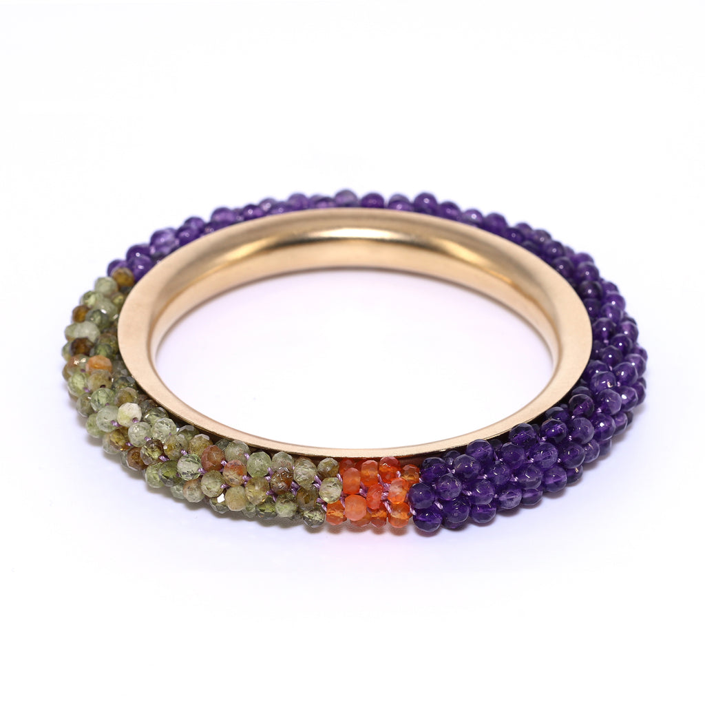 amethyst-garnet-and-14kgold-bangle-bracelet
