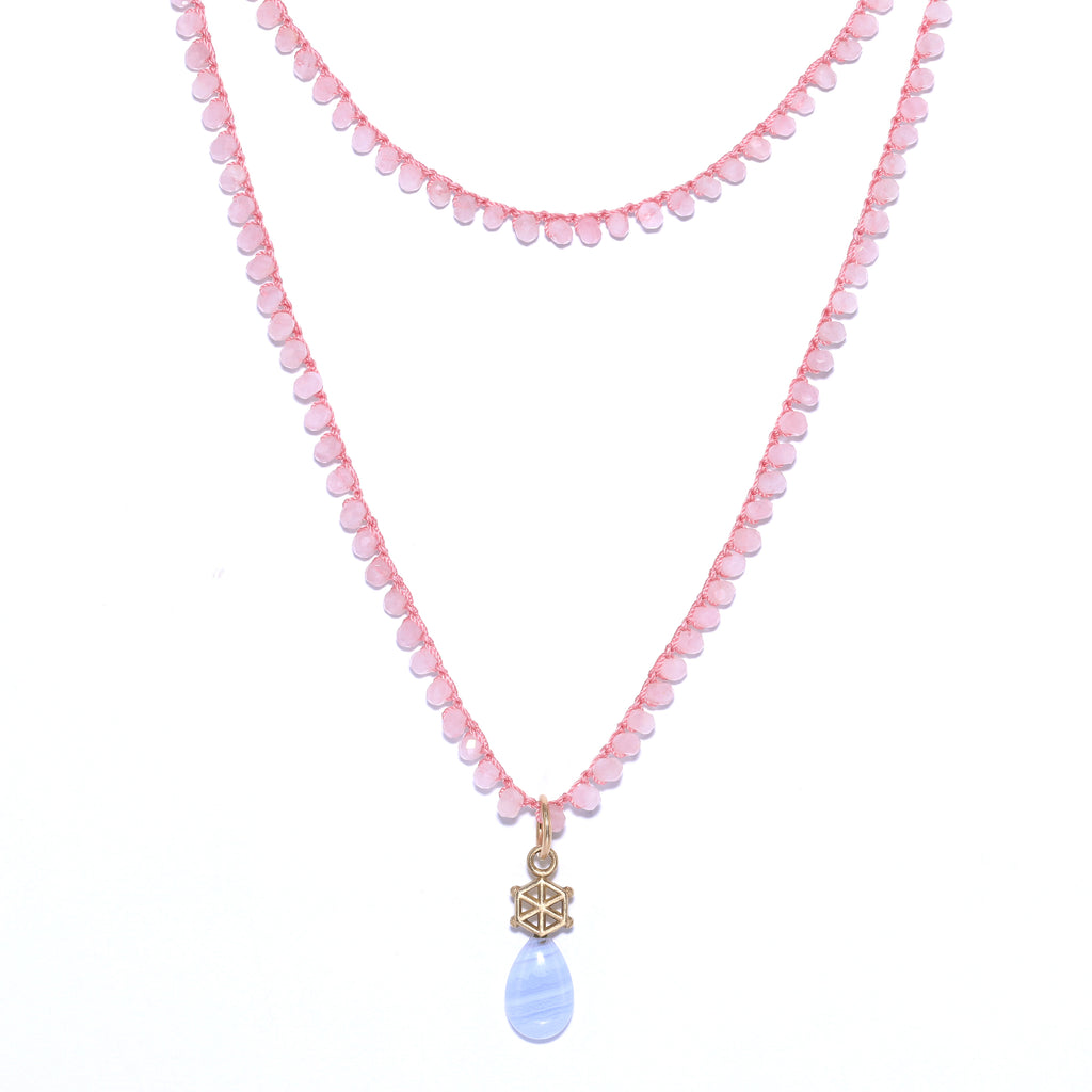 long-rose-quartz-gemstone-necklace-with-14kgold-and-blue-lace-agate-charm