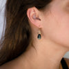 14kgold-flat-hexagon-gemstone-top-drop-earrings-model