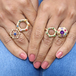 gold-pointed-hexagon-ring-model
