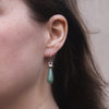 green-aventurine-silver-flat-hexagon-earrings-model