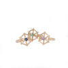 three-14kgold-spoked-hexagon-rings