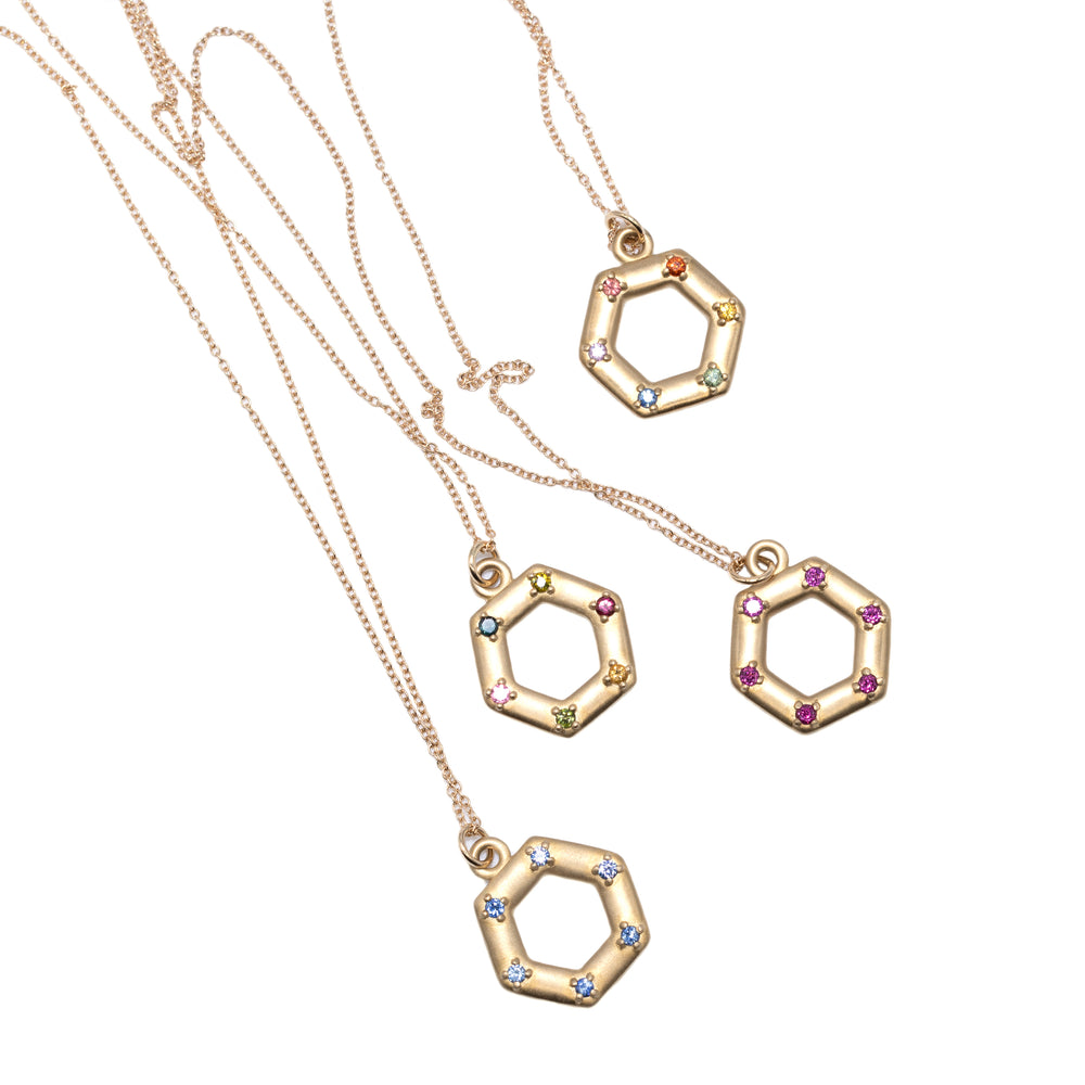 group-of-large-14kgold-hexagon-charm-with-14kgold-chain