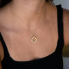 large-14kgold-hexagon-charm-with-14kgold-chain-on-model