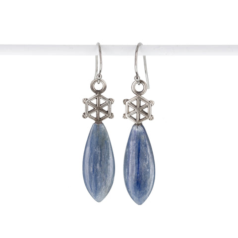 kyanite-silver-spoked-hexagon-earrings