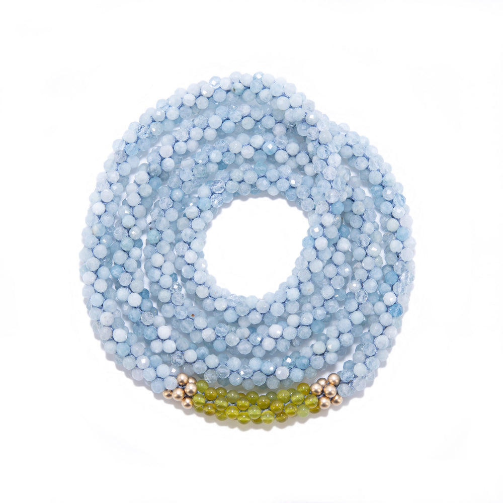 Load image into Gallery viewer, aquamarine-beaded-gemstone-necklace