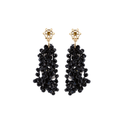 black-spinel-beaded-earrings-with-small-14kgold-and-champagne-tourmaline-post