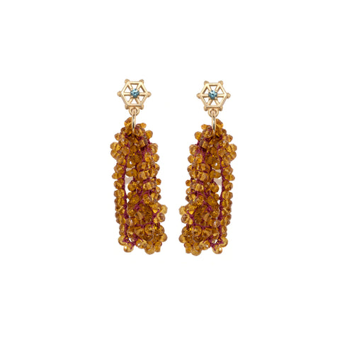 citrine-beaded-earrings-with-small-14kgold-and-grey-sapphire-post