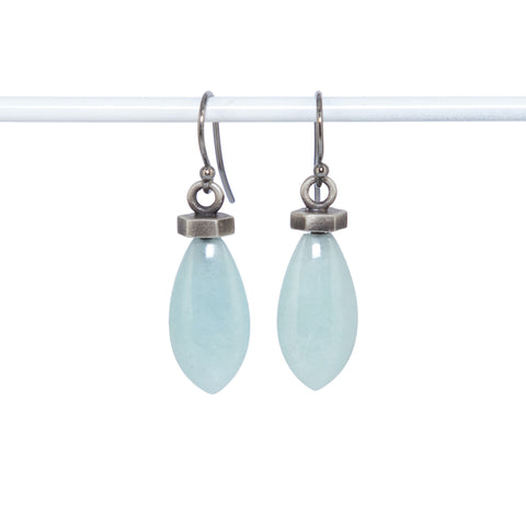 silver-flat-hexagon-light-aquamarine