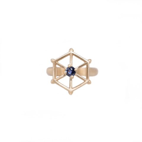 14kgold-spoked-hexagon-blue-sapphire-ring