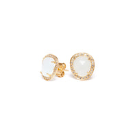 Boucles d'oreilles Femme HEAVEN, Or 18k, Aigue-marine, Diamants