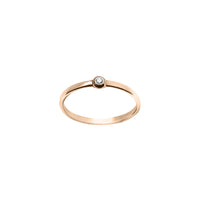 Bague Femme PoEme, Or rose 18k, Diamant