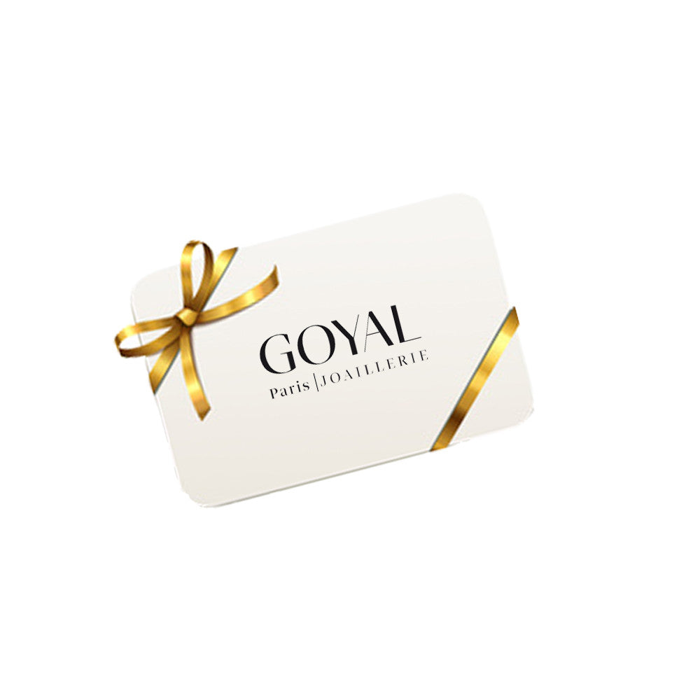 Carte cadeau Goyal Paris